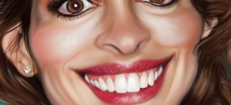 anne hathaway caricature by fran moreno